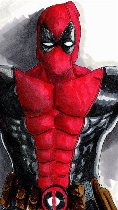 Deadpool Draw Iphone 3wallpapers Pro Max Plus
