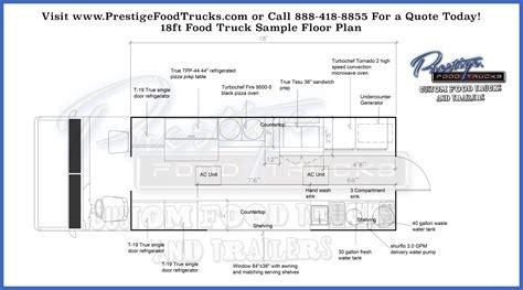 plan cuisines custom food truck floor plan sles prestige custom
