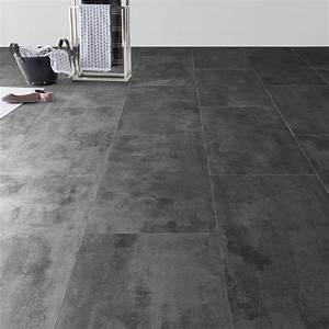 Pose Dalle Pvc Sur Carrelage : dalle pvc clipsable zinc artens moods leroy merlin ~ Dailycaller-alerts.com Idées de Décoration