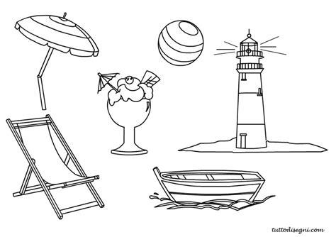 spiaggia disegni estate colorati estate disegni da colorare tuttodisegni