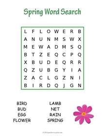 Halloween Brain Teasers Pdf by Easy Spring Word Search