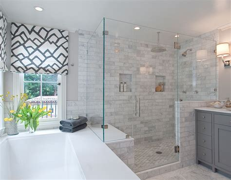gray master bathroom ideas marble shower surround contemporary bathroom tamara Gray Master Bathroom Ideas
