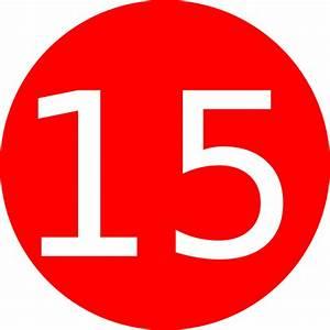 Number 15 Red Background Clip Art at Clker.com - vector ...