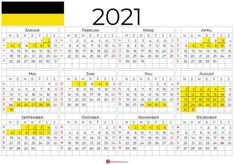 Feiertage 2021 im land bern. Kalender 2021 Baden Wurttemberg Zum Ausdrucken