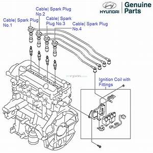 Hyundai Grand I10 1 2 Petrol  Ignition Coil And Spark Plug Cable