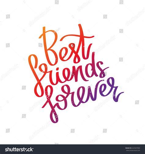 t shirt white noise best friends forever trend calligraphy vector stock vector