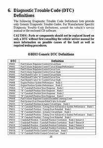 Diagnostic Trouble Code  Dtc  Definitions  Obdii Generic