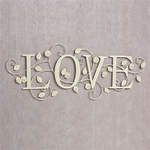blooms of love metal word wall art With word wall art