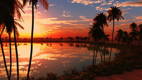 Beautiful Pictures Of Nature Wallpaper by Wallpaper Lake Tress Sunset Reflections Nature 238
