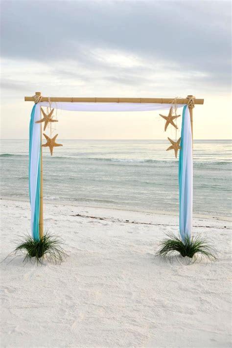 charming beach  coastal wedding arch ideas