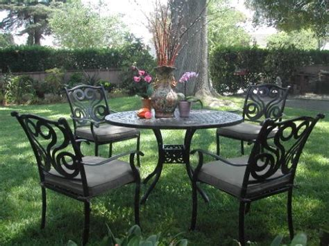 Inexpensive Outdoor Dining Sets by Outdoor Cast Aluminum Patio Furniture 5 Dining Set G