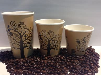 plain tree cups oz takeaway paper coffee cups box