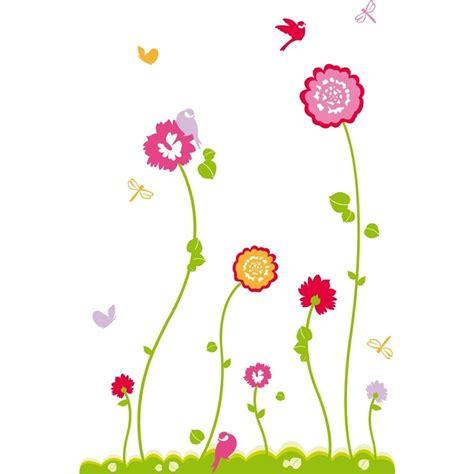 stickers muraux pour chambre adulte dessin de fleure fashion designs