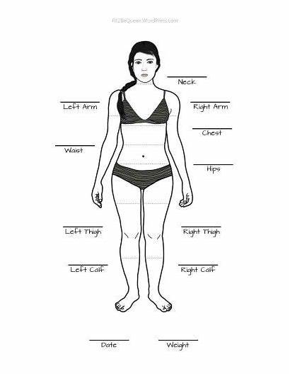 Measurement Chart Weight Loss Fitness Workout Measurements