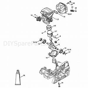 Stihl Ms 251 Chainsaw  Ms251  Parts Diagram  Cylinder