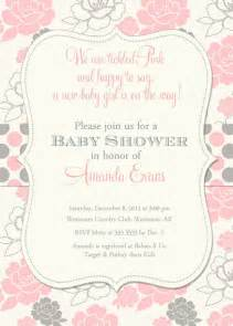 custom wedding registry baby shower invitation pink and grey floral by partypopinvites