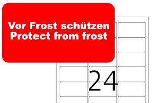 herma etikett  vor fost schuetzen protect  frost