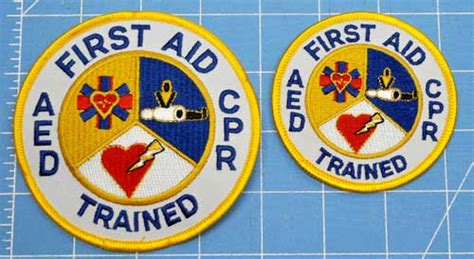 First Aid Cpr Aed Trained Patch 4 Inch Patch