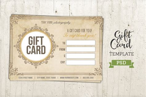 gift card template psd certificate templates