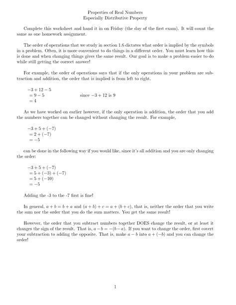 10 Best Images Of Distributive Property Worksheets For Elementary  Distributive Property