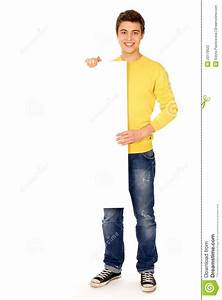 Man Holding Blank Poster Stock Photography - Image: 20179522