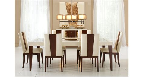 savona ivory  pc rectangle dining room contemporary
