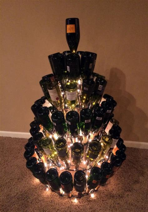 wine bottle christmas tree stand christmas decore