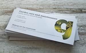 Gardenscape business cards and flyers printed by solopress for Company message for business cards