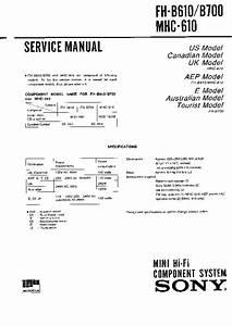 Sony Fh-b610  Fh-b700  Mhc-610 Service Manual