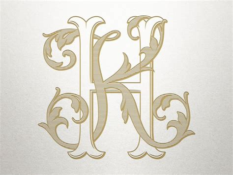 digital antique monogram hk kh antique monogram etsy monogram wallpaper vintage logo design