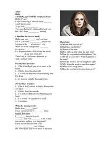 Hello Song by Adele Lyrics