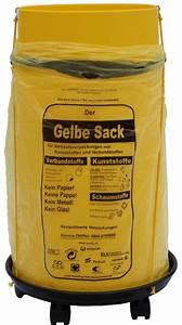 Müllsackständer Gelber Sack : sacktonne mit deckel und rollwagen f r gelber sack m llsackst nder wertstoffbeh lter will jeder ~ Eleganceandgraceweddings.com Haus und Dekorationen
