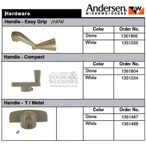 Andersen Casement Window Crank Handle  Andersen Window Handle