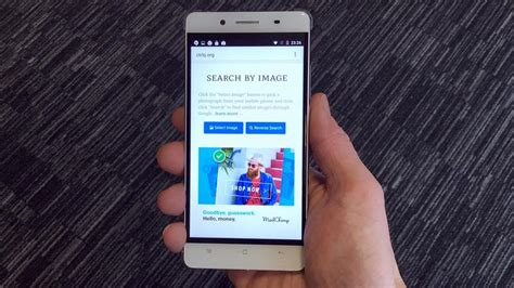 image search from iphone how to do a image search on android or