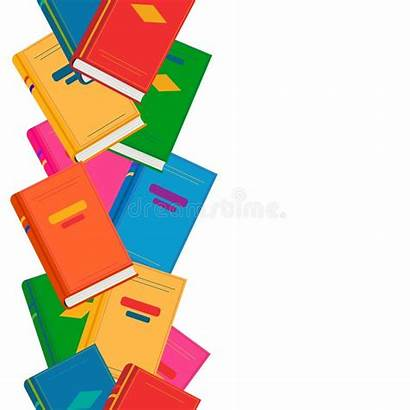 Border Books Colorful Vertical Vector Clipart Zone