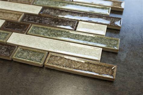 roman art random brick green white brown glass mosaic tiles