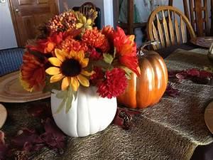 Harvest, Pumpkin, Thanksgiving, Centerpiece, Silk, Flowers