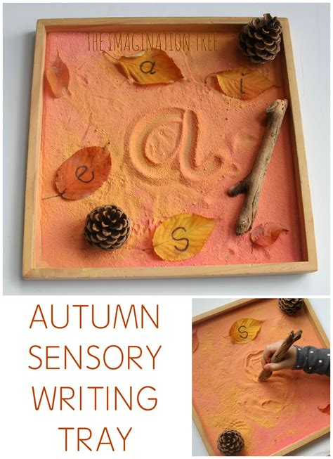 fall literacy activities for preschool autumn sensory writing tray the imagination tree 937