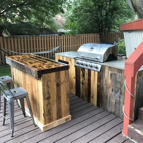 palletwood outdoor kitchen ryobi nation projects