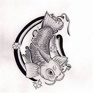 Koi Fish tattoo design Black and Grey by Hausofch on ...