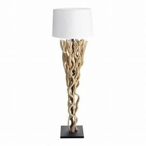 Stehlampe Weißer Schirm : stehlampe aus reveholz mit wei er lampenschirm h164 maisons du monde ~ Frokenaadalensverden.com Haus und Dekorationen