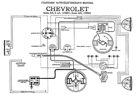 Studebaker Headlight Wiring by Electrical Wiring Diagram For 1929 Chevrolet 6 Cylinder