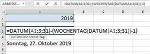 Excel Wochentag Berechnen : excel 2010 das ende der sommerzeit berechnen pcs campus ~ Haus.voiturepedia.club Haus und Dekorationen