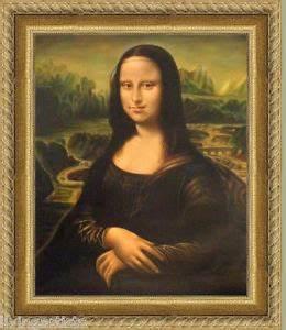 Oil Painting MONA LISA Da Vinci 20x24 Framed Original ...