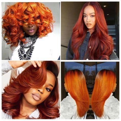 Orange Red Hair Hair Love In 2019 Hair Color For Black