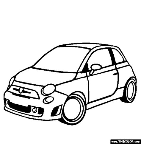 Fiat Panda Kleurplaat by Cars Coloring Pages Page 1
