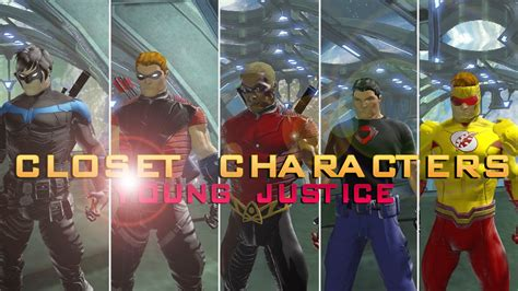 dcuo closet characters young justice season
