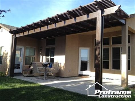 alumawood patio cover colors services proframe construction chico ca