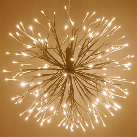 white starburst lighted branches  warm white led