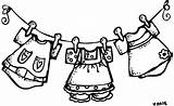 Clothesline Baby Clipart Clip Library Shower Cliparts Clothes Line Laundry sketch template